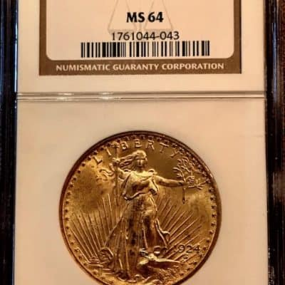M_Go_USA_1924_MS64_20USD_Double Eagle_St.Gaudens_A_99