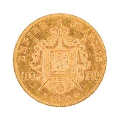 M_Go_FRA_1855_Napoleon III_100francs_Strasbourg_42_A